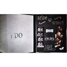 Wedding photo booth scrapbook