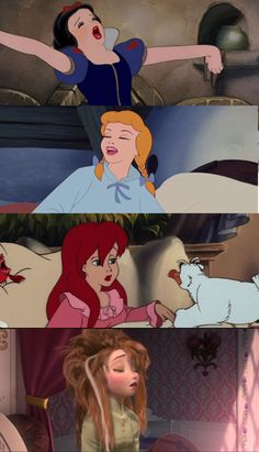 And then there;s Anna. Disney is finally showing what a girl actually looks like when she first wakes up. #Frozen #Disney