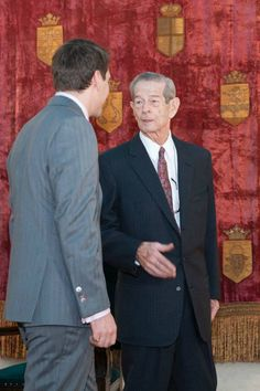 King Michael of Romania and his grandson, Prince Nicholas of Romania - (during an event that celebrates his birthday and name day. Von Hohenzollern, Romanian Royal Family, Kaiser, Eastern Europe, Descendants, Queen Anne, Persona, Royalty, King