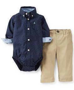 Carter's Baby Boys' 2-Piece Bodysuit & Khakis Set