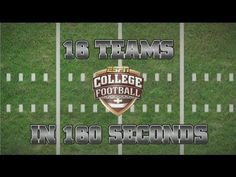 16 College Football Teams in 160 Seconds