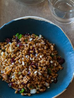 Light and Fresh Wheat Berry Salad recipe