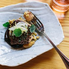 Seared Foie Gras with Millet Granola at Central Provisions