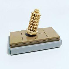 Leaning Tower of Pisa - as little as possible #lego #legomoc #afol #legoideas #legomyideas #legophotography #legophoto #instalego #legogram #legostagram #legosmart #legoleaningtowerofpisa #leaningtowerofpisa #brickmania #legomania