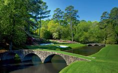 This is one of my favorite courses... It's the Augusta National Golf Course in Augusta Georgia. Beautiful Trees, babbling brooks, and just an all around beautiful course.