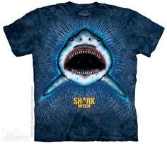 Shark Collage Blue Ocean Fish Aquatic Sharks Tank Mountain Kids T-Shirt M-XL