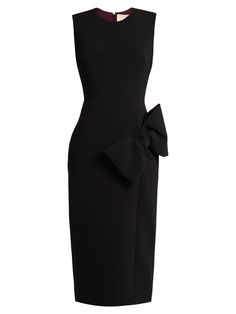 Laurna bow-detail sleeveless cady dress | Roksanda | MATCHESFASHION.COM US