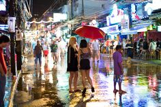 Photo of the Day: Rainy Night in Patong, Thailand   A bright rainy night in Patong, #Thailand, November 13, 2011. (samparadise /Flickr)