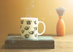 Still Life with Fitzgerald . 5x7 Fine Art Photography Print . books . vintage . tea . coffee . reading . geek . nerd . home decor.  via Etsy.
