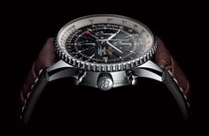 The Navitimer World displays a second timezone. A second central hand indicates the time in another location on a 24-hour scale. Versions