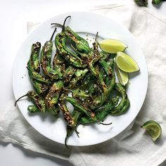 Charred Shishito Peppers with Furikake | Food & Wine's Charred Shishito Peppers with Furikake are the perfect finger food.