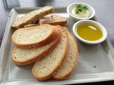 Freshly baked breads, balsamic  olive oil.