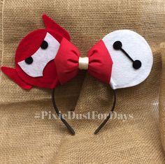 Baymax Mickey Ears, baymax Minnie ears, Disney ears, big hero 6 Mickey ears, big hero 6 by PixieDustForDays on Etsy https://www.etsy.com/listing/231384386/baymax-mickey-ears-baymax-minnie-ears