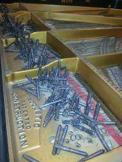 Prep for pin block replacement