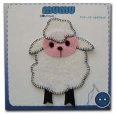 Sheep iron-on appliqué by mumu boutique on Etsy, $4.50