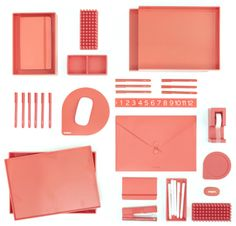 All of this in my new home office! -- Coming soon: CORAL! #newcolors #coral #workhappy