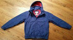 LL Bean Jacket nylon hooded Coat Men's Medium  full-zip hike camp ski rain snow #LLBean #BasicJacket