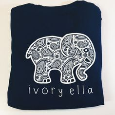 Ivory Ella Pocketed True Navy Paisley Shirt Long Sleeve xxl 100% Cotton NEW