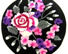"""Polymer clay milefiore canes. 1"""" wide. Detailed bouquet flowers -  A light breeze"""