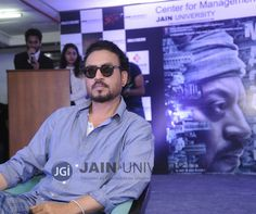 Indian Actor, Irrfan Khan interaction with Media Studies students