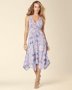Soma Intimates Sleeveless Cross Back Scarf Hem Midi Dress  somaintimates  Multi Way Dress 0778570c2