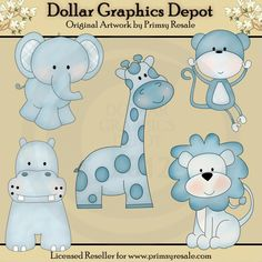 Boy Jungle Babies - Clip Art - $1.00 : Dollar Graphics Depot, Quality Graphics ~ Discount Prices