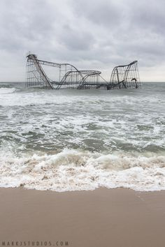 photograph of the roller coaster at Seaside Heights, NJ after Hurricane Sandy. I would have never imagined I would see such a sight in my lifetime. - Imgur