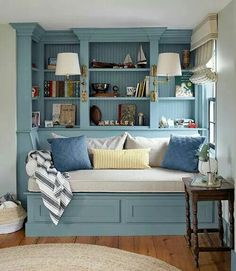 My Future Country Home Love the built in idea.  I would include blanket storage under that bench.
