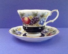 """Royal Albert Vintage Bone China England """"Kent"""" Teacup Set of the Country Fayre Series by Whitepearlfinds on Etsy"""