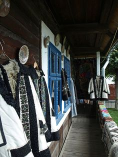 A craft shop in Marginea, Bukovina Region, Romania. Marginea is known for its black clay ceramics. Bukovina is a historical region in Central Europe, currently divided between Ukraine and Romania, located on the northern slopes of the central Eastern Carpathians and the adjoining plains.