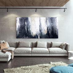 Oversized Wall Art Abstract Canvas Paintings Modern Wall image 9 Abstract Canvas Art, Abstract Paintings, Blue Abstract, Acrylic Paintings, Oversized Wall Art, Image Digital, Extra Large Wall Art, Office Wall Art, Modern Wall Decor