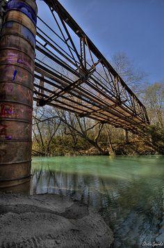 Spadra Creek Bridge - part of a walking trail in Clarksville, AR