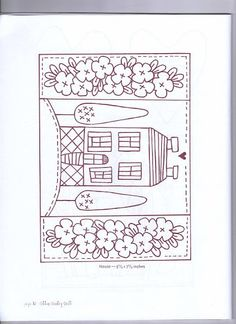 cute house line drawing