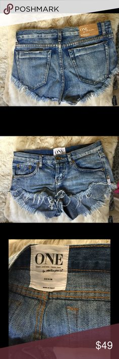 🎉One teaspoon shorts🎉 Bought from another posher. Didn't work out for me! These are in great condition! Bonitas One Teaspoon Shorts Jean Shorts