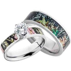 Camo Wedding Ring Sets For Women