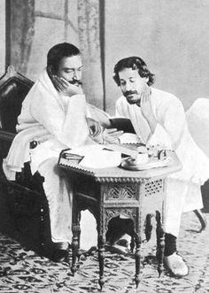 Rabindranath Tagore with friend Priyanath Sen