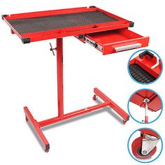 Adjustable Heavy Duty Rolling Roller Mobile Work Table Tool Drawer Storage Bench…
