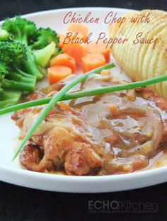 Malaysian chicken chop recipe pinterest sauces food and recipes chicken chop with black pepper sauce ala malaysian style verdict the chicken chop itself tastes forumfinder Images