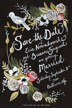 Wedding Invitation. So pretty.