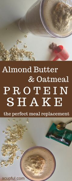 A hearty protein shake that's loaded with essential amino acids. This shake is a great replacement for any meal! I love milkshakes but since I try to eat healthy, I typically avoid them unless Protein Shakes, Oatmeal Protein Shake, Protein Shake Recipes, Healthy Shakes, Protein Smoothies, Oatmeal Smoothies, Organic Smoothies, Green Smoothies, Protein Meal Replacement
