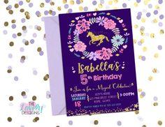 Unicorn Birthday invitation Unicorn Invitation by TheLovelyDesigns