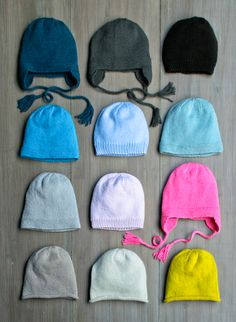 Basic Hats For Everyone pattern set from Purl Soho (knitting, beanie, toque, purl bee)