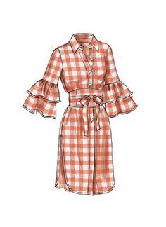 Vogue V9299 MISSES' TOP AND BELT #sewingpattern #easytosewpattern