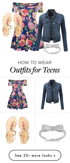 """""""Summer flower"""" by jamof4 on Polyvore featuring New Look, LE3NO and Lilly Pulitzer"""