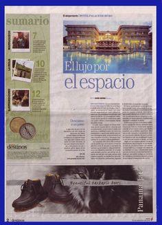 Reportaje para el Periódico de Cataluña, editado en España.  Reportaje sobre el Hotel Palace de Muro.  Reportaje escrito por David Espriu