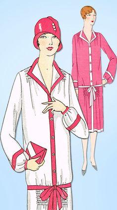 1920s Vintage Ladies Home Journal Sewing Pattern 5018 Uncut Flapper Dress Sz 36B #LadiesHomeJournal #FlapperFrock