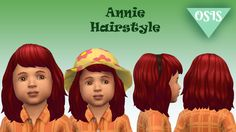"oh-snapitsstef: "" ANNIE TODDLER HAIR / MAXIS MATCH AND HAT COMPATIBLE (18 EA COLORS) DOWNLOAD - MediaFire """