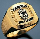The Classic Air Force Chief Master Sergeant Ring. This is the ring I eventually bought to commemorate my military service