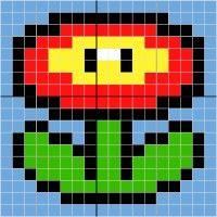 Fire flower - Stitch Fiddle
