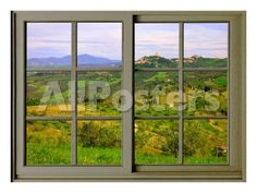 View from the Window at Castiglione D'Orcia Landscapes Giclee Print - 61 x 46 cm